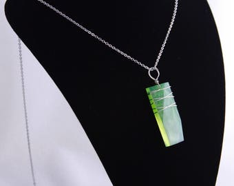 Wire Wrapped Kryptonite Pendant