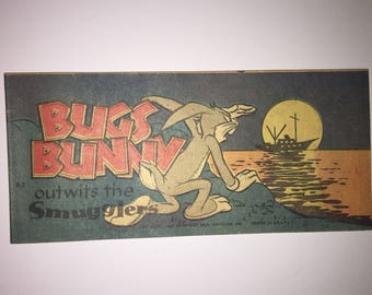 1949 Bugs Bunny Outwits the Smugglers B-2 Cheerios Quaker Puffed Wheat Rice promo Promotional mini pocket Size Comic Book