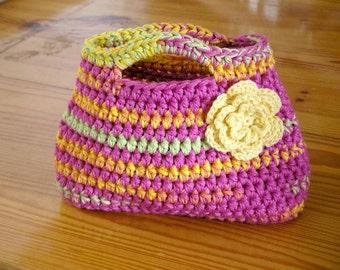 Handbag Crochet Pattern - Easy Peasy Little Kids Bag Crochet Pattern No.504 Digital Download English