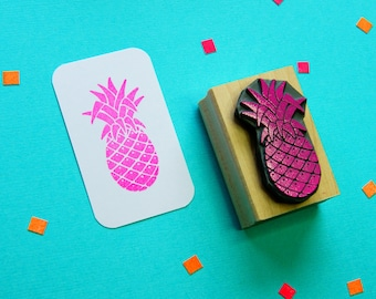 Tropical Pineapple Rubber Stamp - Tropical Rubber Stamp - Tropical Stationery - Tropical Wedding - Fruit Stamper - Gift for Foodie