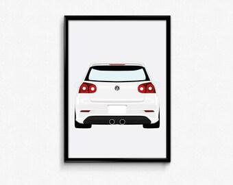 Volkswagen Golf Mk5 R32 A3 Print