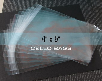 100 Resealable Clear Polypropylene Bags for Photos, Cards, Treats, Packaging. 4x6 inches