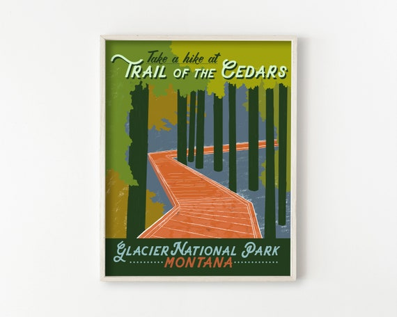 Trail of the Cedars - glacier national park wall art