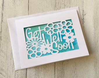 Get Well Soon card, Get Well card, Get Better Soon, Thinking of you, Sympathy card, Illness Card