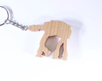 Wooden Star Wars AT-AT Walker Keychain, Wooden Star Wars Keychain, At-At Keychain, Star Wars keychain