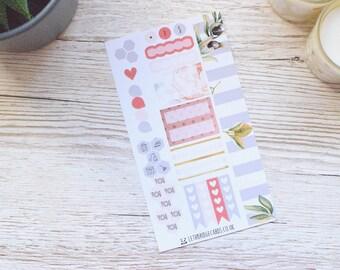Blooms Personal Weekly Kit; Mini Kit; Vinyl Matt; Functional Stickers; Personal Filofax; Medium Kikki K; Spring Kit; Planner Stickers
