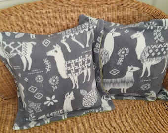 2 Two Llama Pillows Double Stitched 22x22 Softy