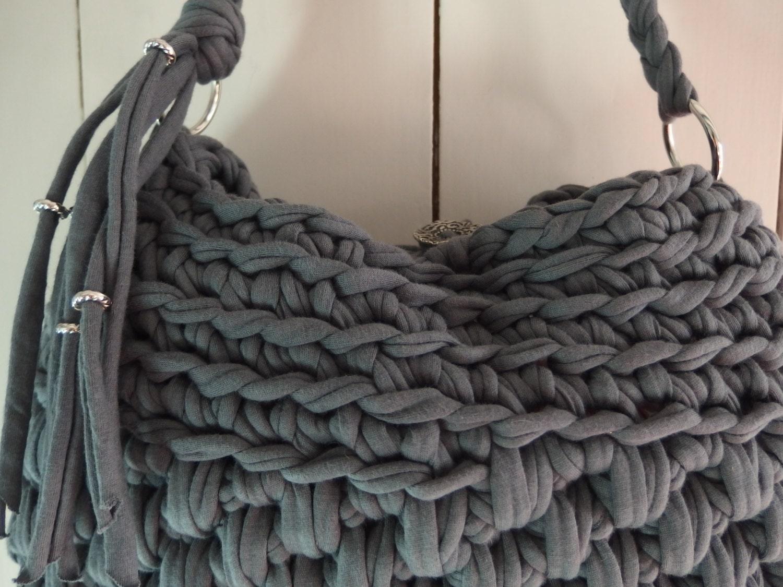 Digital crochet pattern t shirt yarn handbag/ crochet bag pattern ...