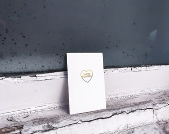 alone forever (foil block card)