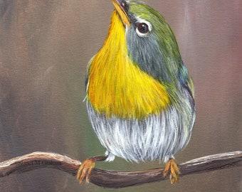 Bird Art - Bird Painting - Northern Parula - SFA- Original Wildlife Acrylic Painting - Bird Lover Gift - Gift for Her - Realistic Bird
