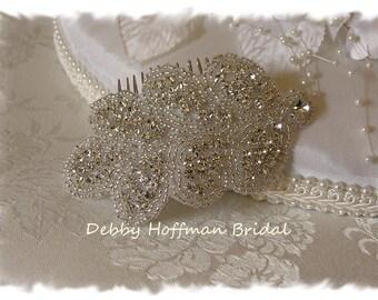 Jeweled Wedding Hair Comb, Crystal Bridal Hair Comb, Crystal Bridal Headband, Rhinestone Wedding Headpiece, Wedding Headband, No. 3040HB