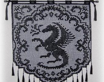 Proud Dragon Wall Hanging Pattern PDF Digital Download
