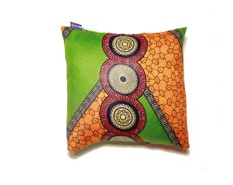 African Print Cushion (The Green Buddha)