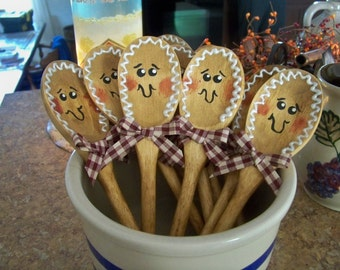 Gingerbread Wooden Spoon