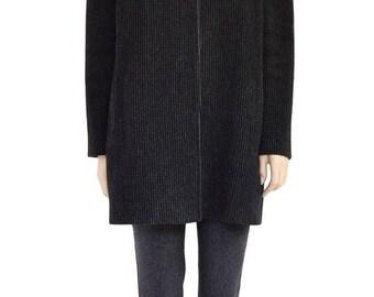 Vintage Coat, Karen Black Wool Cashmere Coat, 1980s Coat, Women's Coat, Women's Jacket, Wool Coat, Black Coat, Winter Coats, Gift For Her