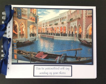 "Personalised VENICE Holiday Travel Photo Album - Scrapbook - Memories Book - Photo Book 10"" x 8"""
