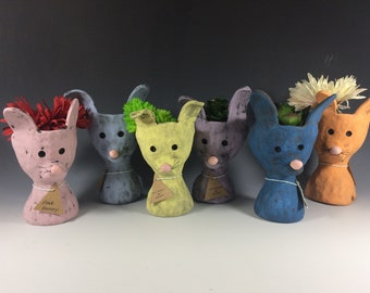 Pothead Bunny Peeps // Small // Succulent Pots // Planters // Bunnies // Cute // Rabbits // Spring // Home Decor // Office //
