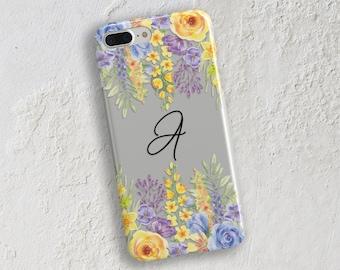 iPhone 6 clear case iPhone 8 case iPhone 7 case Floral border case transparent iPhone 7 Plus Case Galaxy S8 Case Galaxy S7 Case  (1831)
