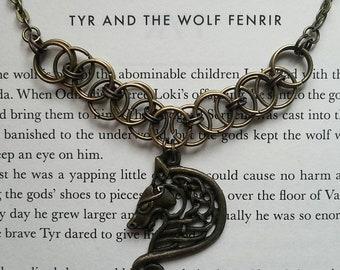 Fenrir Helm Link Necklace