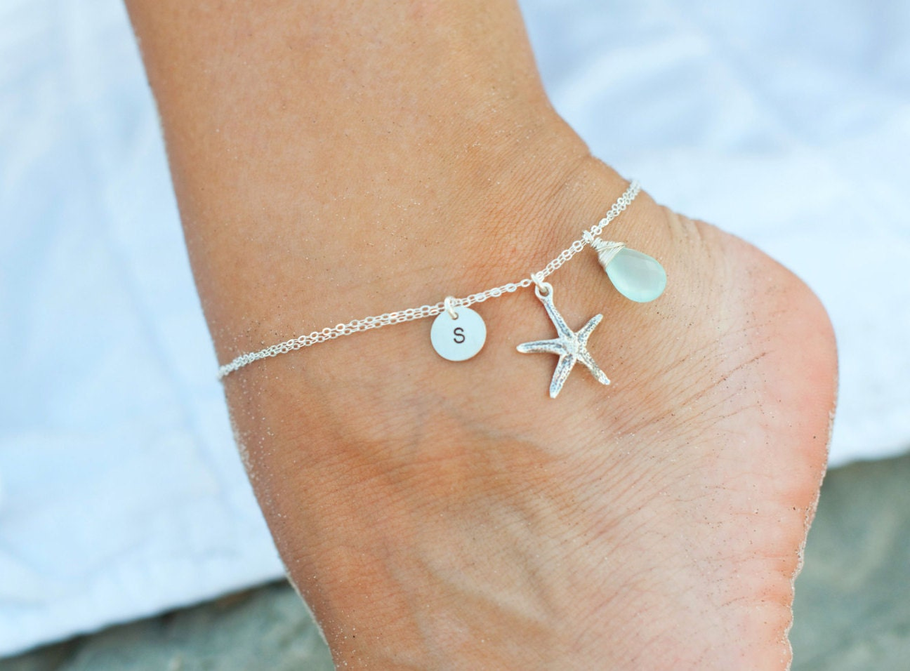 chain beauty wedding silver ankle charm bracelet uk drop co crystal bracelets dp amazon with anklet celeb jewelry charms