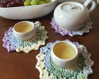 Medium Crochet Decorative Coaster Set