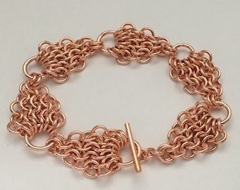 Mermaid Links - 100% copper chainmaille bracelet