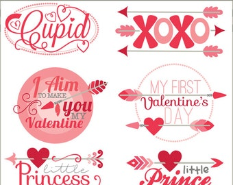 Valentine Clipart Arrow Sayings  -Personal and Limited Commercial Use- Cute Valentine Clipart Titles