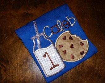 Milk & Cookies Birthday Shirt