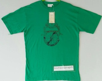 Rare!! Trussardi spellout pull over big logo green colour large size