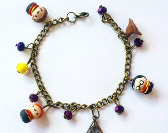kawaii Harry Potter bracelet / charms bracelet / magic jewelry / Potter heads / HP