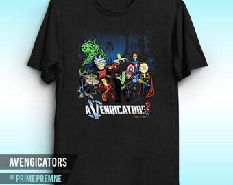 Avengicators - Rick and Morty Inspired   Superhero Shirt   Comic book Tee