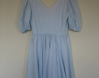Soft Blue Dotty Dress size medium