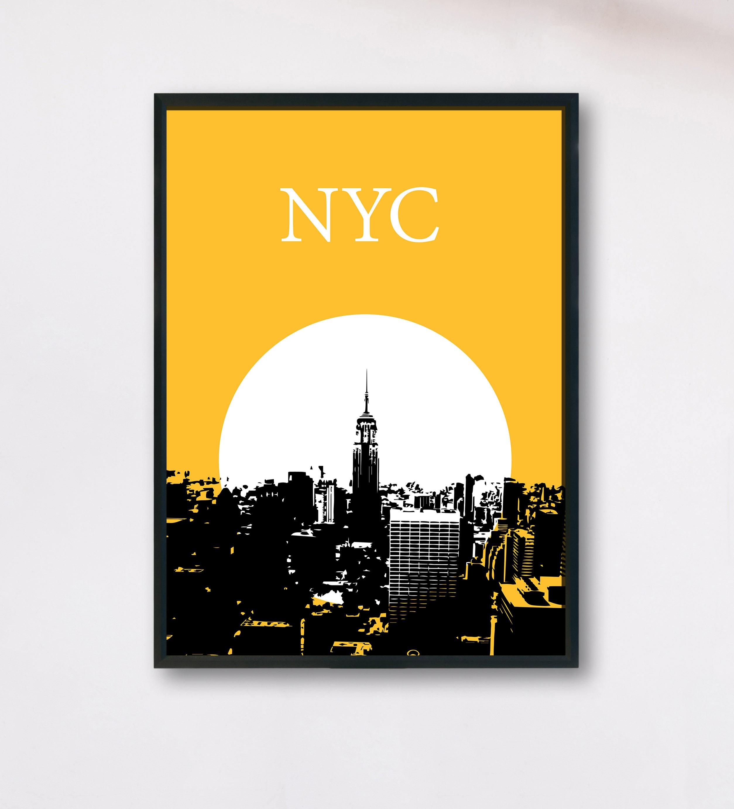 NYC Poster New York Printable NYC wall art ny skyline