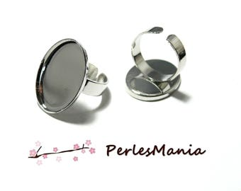 Support quality 18 mm by 25mm silver plate ref 8943 oval rings