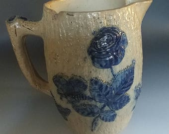 Bristol Stoneware Salt Glaze Pitcher, late 1800's