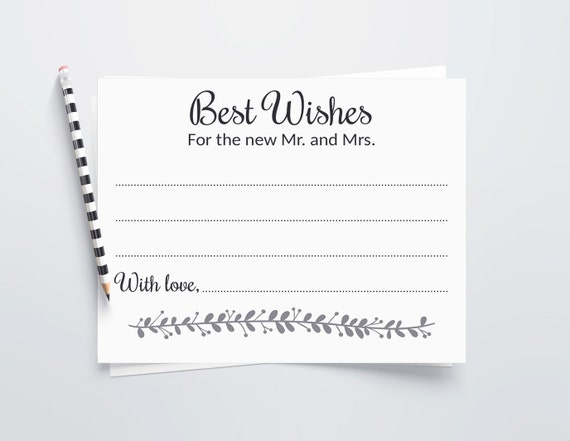 Wishes Wedding Guest Guest Book Idea Wedding Wishes Cards