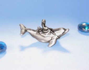 "Tooth Fairy Box-Pewter ""On A Whim"" Dolphin  and Princess"