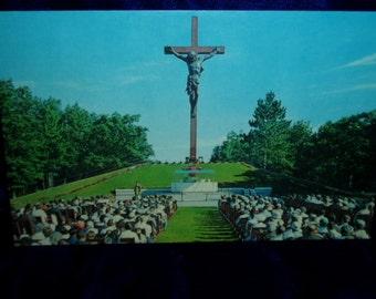 50s Religious Photo Postcard Catholic Shrine Indian River Michigan