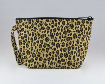 Cheetah Print Makeup Bag - Accessory - Cosmetic Bag - Pouch - Toiletry Bag - Gift