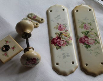 Vintage Porcelain Door Plates/Knobs/Keycovers and Light Switch