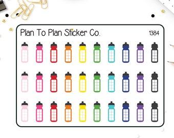 1384~~Water Tracker Planner Stickers.
