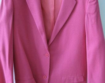 Authentic STEPHEN SPROUSE 1980's Punk Rock Couture Neon Pink Blazer, sz. 10 Women