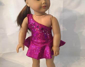 Shiny Purple Skating Outfit for 18 inch Dolls such as American Girl My Life or Our Generation