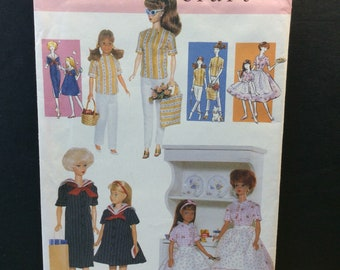Vogue Craft Fashion Doll Sewing Pattern 9964 658 Vintage Style Clothes 11.5""