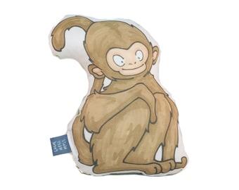 Mischevous Monkey Plush Accent Pillow