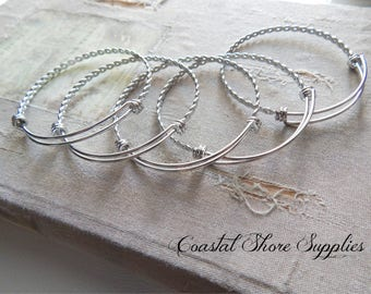 BULK Pick Quantity Stainless Braided Bangle Bracelet, Twisted Stainless steel bracelet Expandable High quality Triple Loop  60mm wire bangle