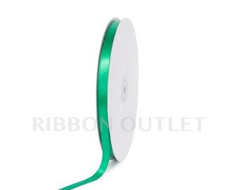 "3/8"" Christmas Emerald Kelly Green Satin Ribbon 100 Yards Per Roll"