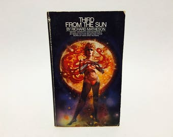 Vintage Science Fantasy Book Third from the Sun by Richard Matheson 1970 Paperback Anthology