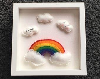 Handmade rainbow frame
