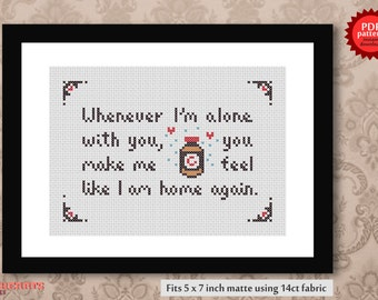 Lovesong - The Cure PDF cross stitch pattern